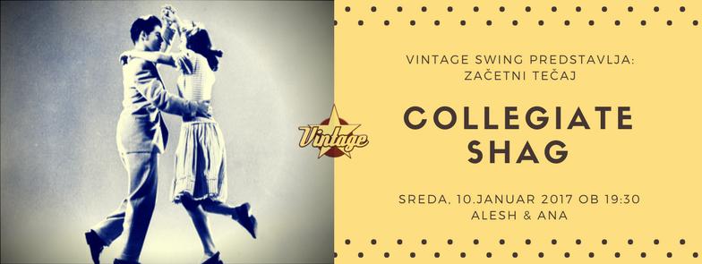 Collegiate Shag začetni tečaj Vintage Swing